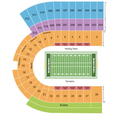 penn state football seating chart penn state football tickets seating chart maryland