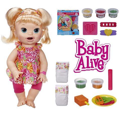 Baby Alive Snack Snackin Boneka Baby Alive Snackin baby alive snackin doll w baby alive re usable food pack new ebay