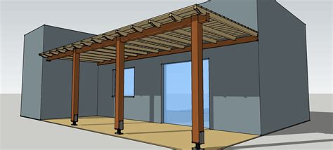 veranda dwg simple timber pergola complete solution details for