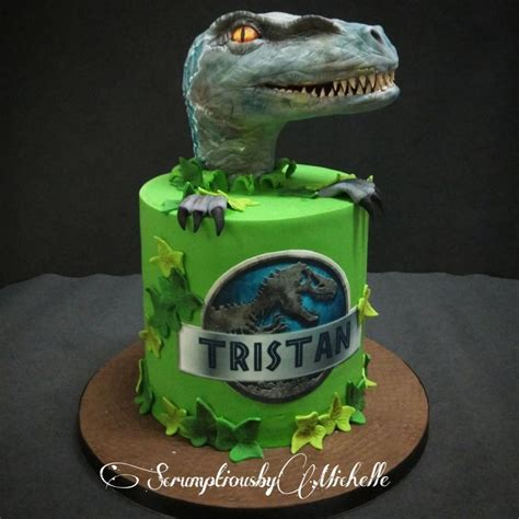 Jurassic Park Cake Decorations by Jurassic Park Cake With Raptor By Chan Cakes
