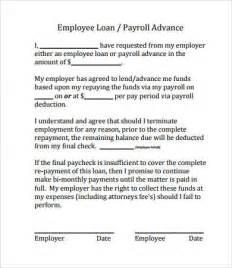 Employee Loan Agreement Template by Simple Loan Agreement 8 Free Pdf Word Documents