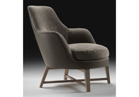 Soft Armchair by Guscio Soft Wooden Base Armchair Flexform Milia Shop