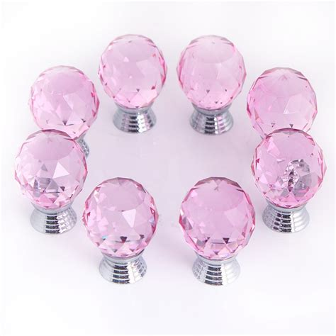 glass kitchen cabinet knobs and pulls kitchen set home 8pcs set 30mm cut crystal glass door knobs kitchen cabinet