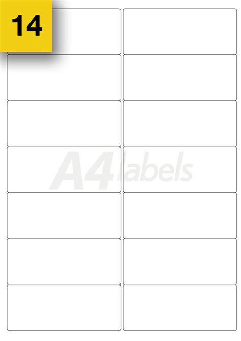 printer label template 280 14up a4 printer labels self adhesive sticker l7163