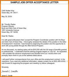 Offer Letter Of Acceptance 10 Offer Acceptance Letter Assistant Cover Letter
