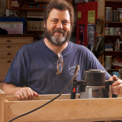 nick offerman woodworking crafting a hardwood mustache finewoodworking