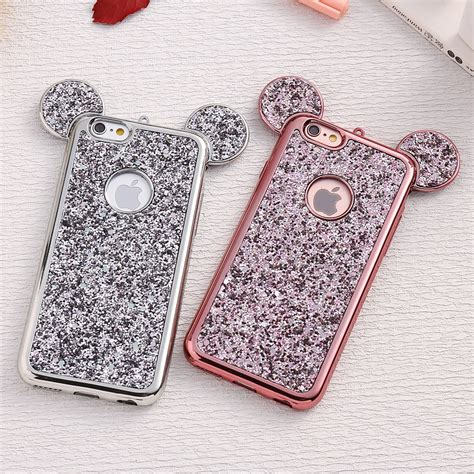 Ap Mickey 3d Glittery High Quality Softcase Iphone 4 5 6 6 Grand bling glitter phone spancase