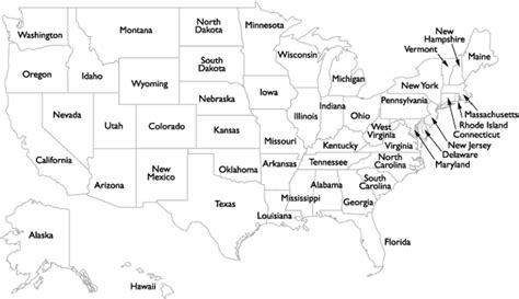black and white us map with state names gurley precision instruments representation usa
