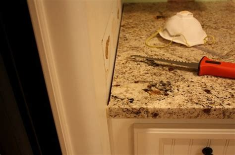 gap between cabinet and wall granite countertop gaps poor install