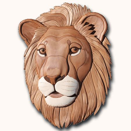 ctp  lion woodworking intarsia pattern intarsiacom