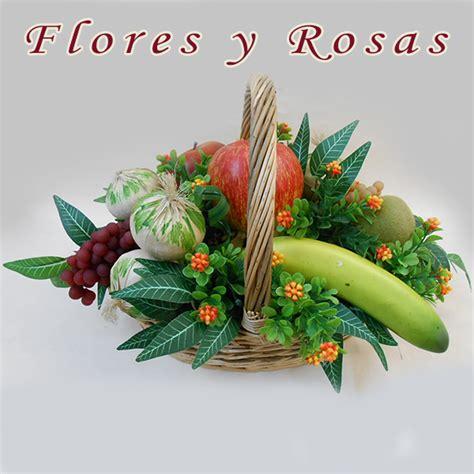 inicio tienda dselo con flores rosas tatuadas rosas tatuadas cesta de frutas artificiales en base ovalada rf00250