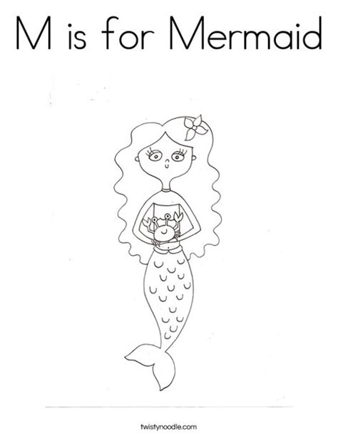 mermaid coloring pages preschool m is for mermaid coloring page twisty noodle animal