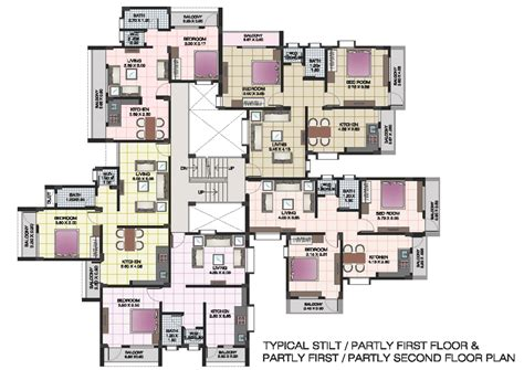 Apartment Architecture Design Plans Apartment Floor Plans Of Shri Krishna Residency Kankavali