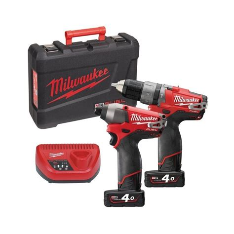 Milwaukee M12 Cpd 402c Fuel Percussion Drill Driver m12 pp2a