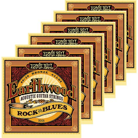 Ernie Guitar String Acoustik Rock And Blues Earthwood ernie 2008 earthwood 80 20 bronze rock and blues acoustic guitar strings 6 pack musician