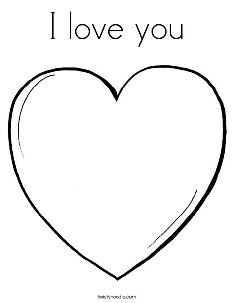 i love you heart coloring page i love you coloring page twisty noodle