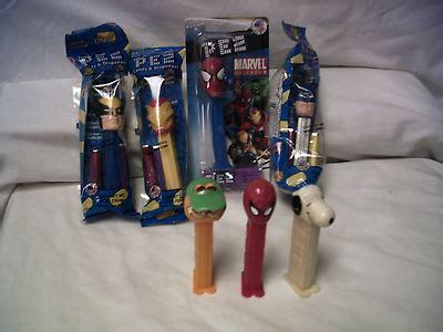 Figure Permen Pez Batman Snoopy Spider Flinstones antiques collectibles snoopy pez dispensers