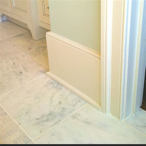 big simple baseboard idea house pinterest  baseboard trim baseboard  marble tiles