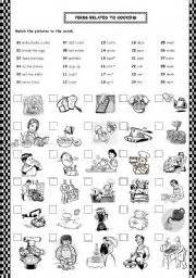 verbs related to cooking actions restaurant