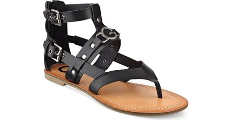 Sandal Gladiator Pria 19 g by guess hartin flat gladiator sandals in black save 19 lyst