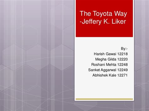 toyota way book the toyota way book review