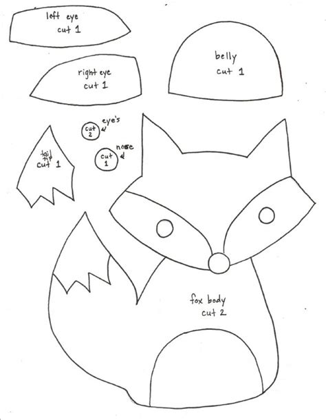 felt shape templates the 25 best ideas about felt fox on fox