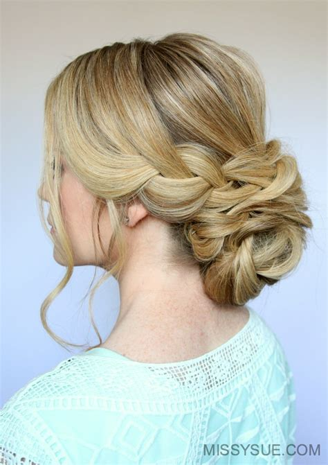 Bun Hairstyles by Braid And Low Bun Updo Sue