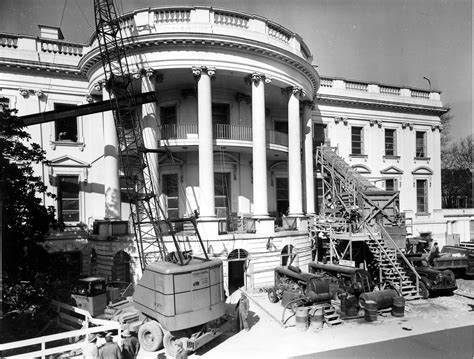 white house renovation photos rare look inside president truman s white house reconstruction photos huffpost