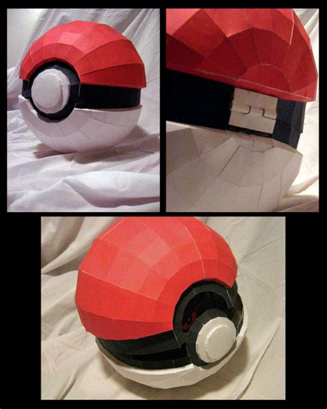 How To Make Paper Pokeball - 15 best photos of pokeball paper crafts to make