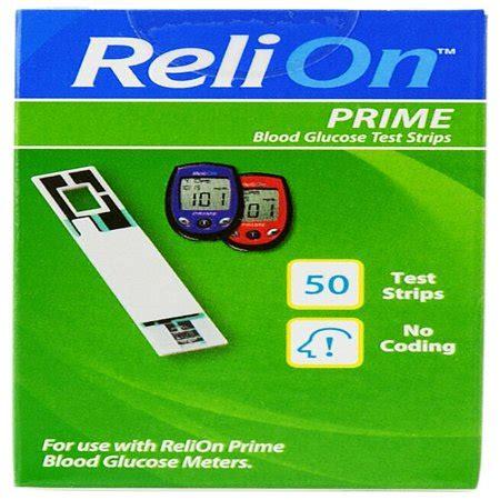 relion prime blood glucose test strips  ct walmartcom