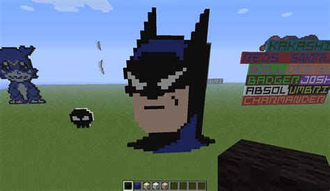 minecraft pixel templates batman batman minecraft pixel by rest in pixels on deviantart