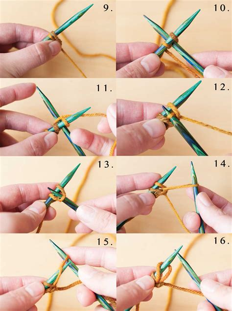 how to cast on knitting needles necessary knitting learn the cable cast on step by step