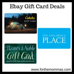 Gift Card Special Offers - ebay gift card deals 100 cabela s card 80 100 children s place card 85 more ftm
