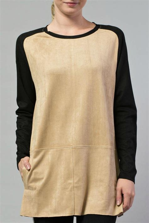 Swedy Tunik joh faux suede tunic from chicago by boutique shoptiques