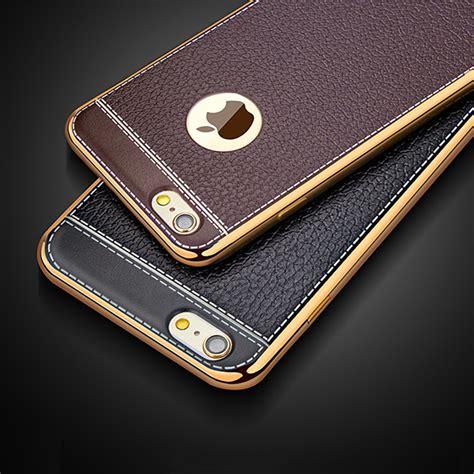 Vintage Motif Lucu Cover Casing Premium Iphone 6 6s luxury retro leather pattern soft tpu silicone phone