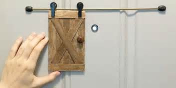 sliding barn door peephole peephole security