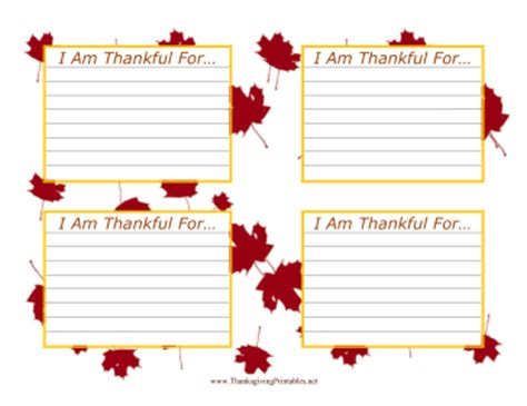 i am thankful for template pre k card thankfulness cards