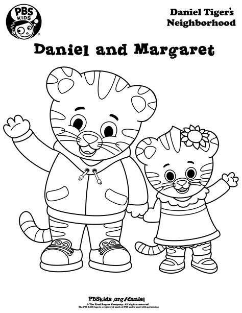 Coloring Daniel Tiger S Neighborhood Pbs Kids Daniel And The Coloring Pages