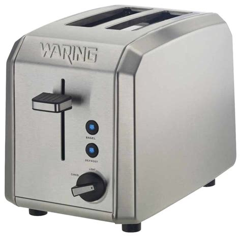 Waring Small Appliances Home Waring Pro 1000 Watt 2 Slice Brushed Stainless Steel