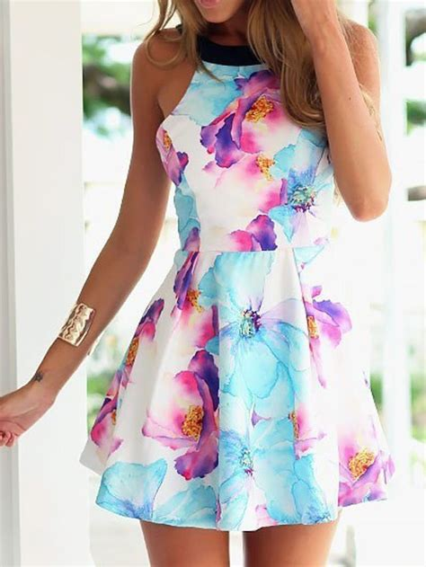 Flower Pattern Backless Mini Dress 25 best ideas about dresses on dresses dresses casual and