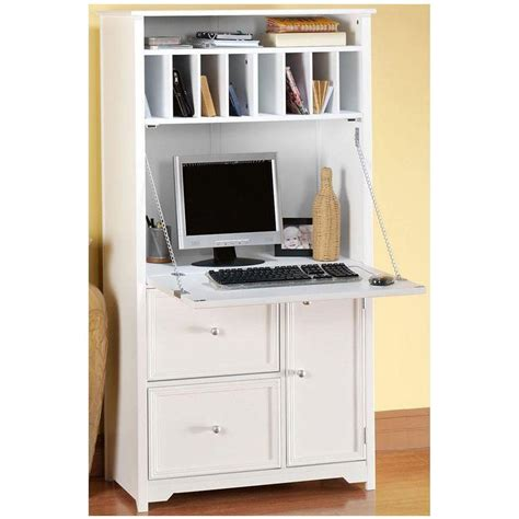 Corner Kitchen Cabinet Storage Ideas by Home Decorators Collection Oxford White Secretary Desk