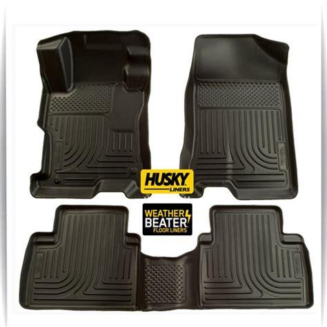 floor mats for honda pilot 2014 2009 2014 honda pilot set husky liners weatherbeater