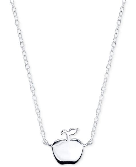 Apple Pendant Necklace disney snow white apple pendant necklace in sterling