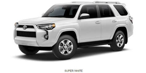 toyota 4runner 2017 white what are the 2017 toyota 4runner exterior color options