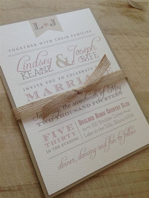 rustic twine wedding invitations wedding invitation suite sle rustic and vintage simple and invite twine and