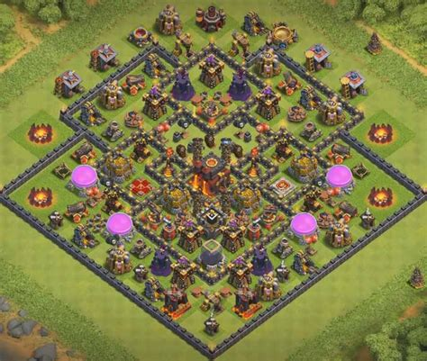 clash of clans th10 trophy layout 8 best th10 trophy bases 2017 with bomb tower cocbases