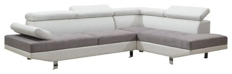 2 piece modern contemporary white faux leather sectional 2 piece modern contemporary 2 tone faux leather sectional