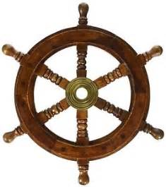 Steering Wheel For A Pirate Ship 12 Quot Vintage Boat Ship Steering Wheel Brass Hub Wood Wooden