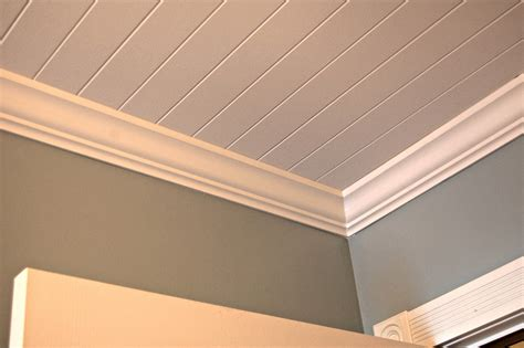 painted beadboard ceiling roly poly farm laundry room reveal