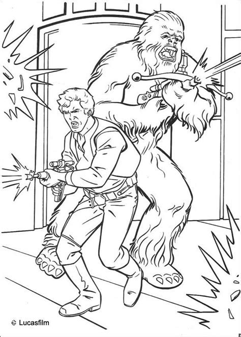han solo and chewbacca coloring pages hellokids com